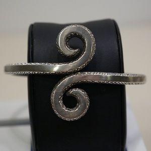Sterling Silver (.925) Handmade Hinged Bracelet